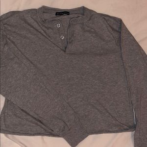Gray pullover with buttons